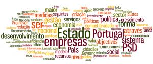Tagcloud com programa eleitoral do PSD