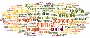 Tagcloud com programa eleitoral do PS